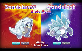 Sandshrew and Sandslash - Alola