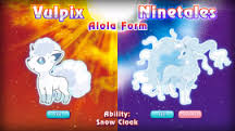 Vulpix and Ninetales - Alola