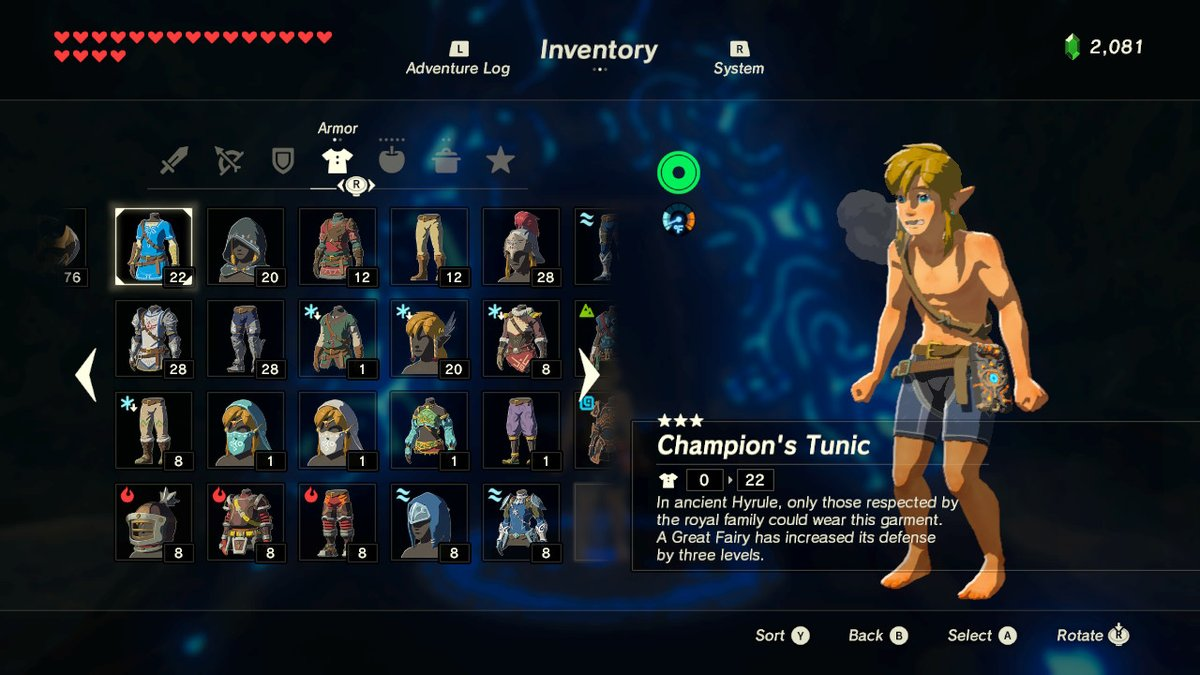 The Legend Of Zelda Breath Of The Wild Great Fairy And Armor Upgrade Guide Adventure Rules