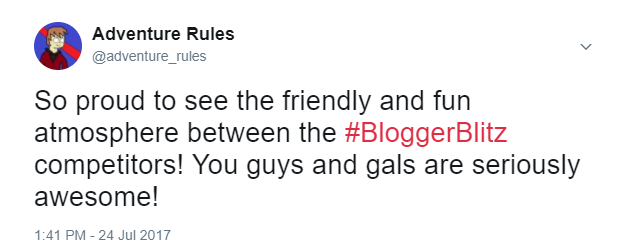 Blogger Blitz Tweet