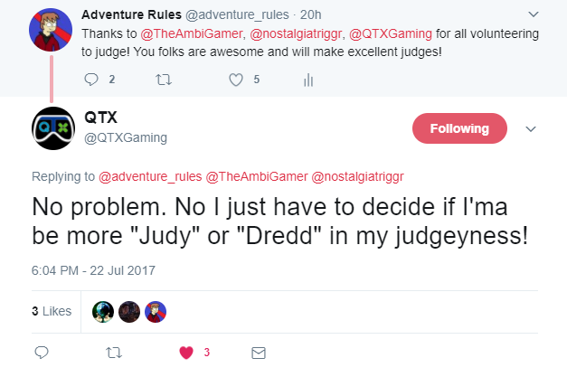 Judge Judy or Judge Dredd.