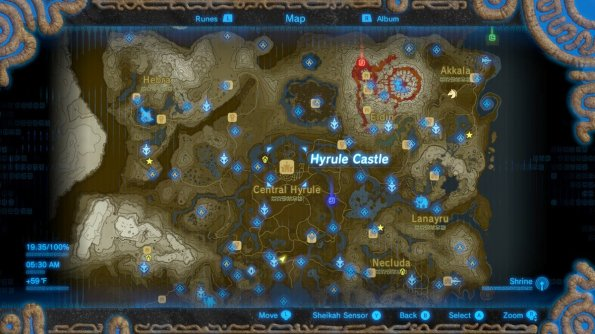 Breath of the Wild World Map