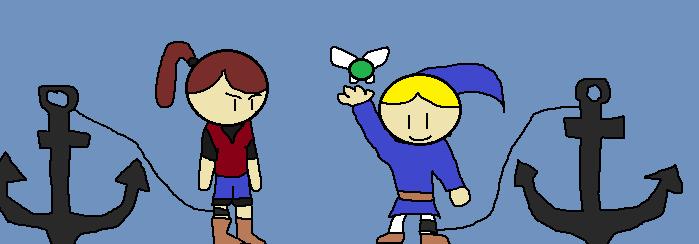Claire vs Link Zora Tunic