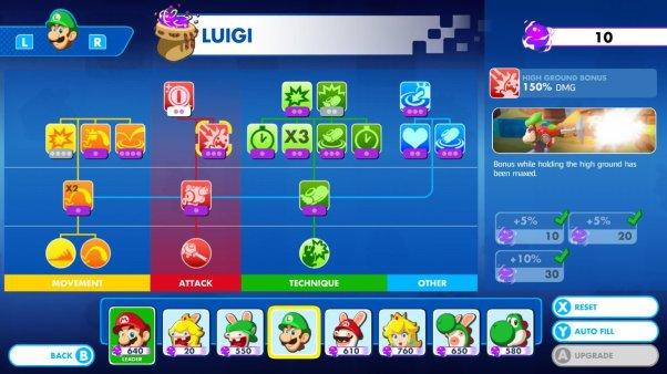 Mario + Rabbids Luigi Skills