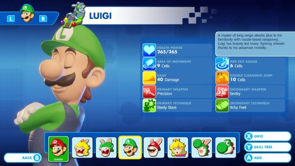 Mario + Rabbids - Luigi