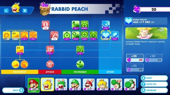 Mario + Rabbids Rabbid Peach Skills