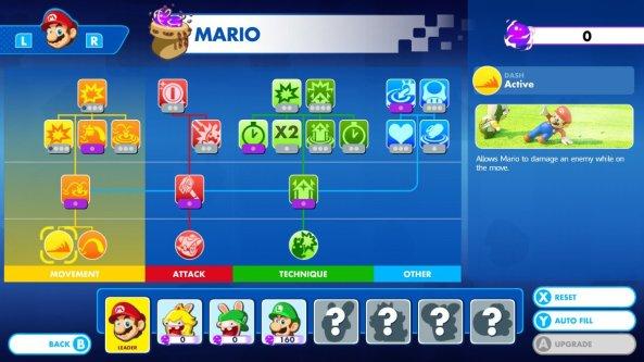 Mario Skill Tree