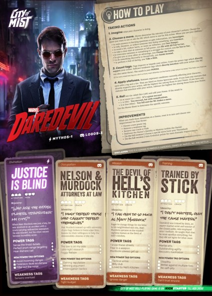 Daredevil Character Sheet