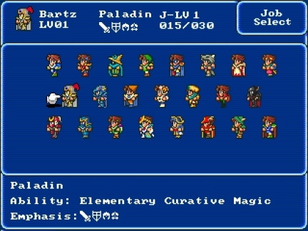 Final Fantasy V Jobs