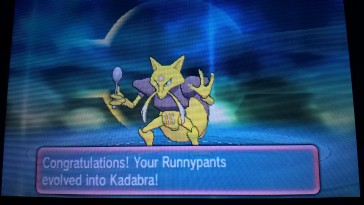Runnypants is Kadabra