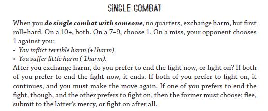 AW Single Combat