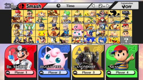 Smash Wii U Roster
