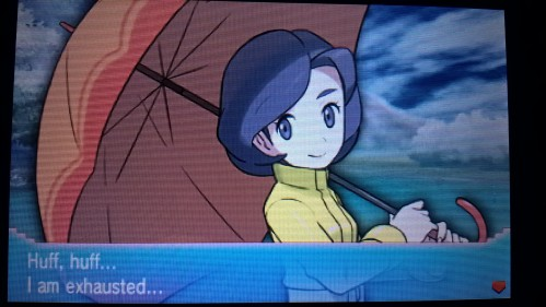 Parasol Lady Defeated