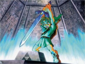 Link Drawing the Master Sword