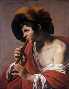Boy Playing a Recorder by Hendrick ter Brugghen