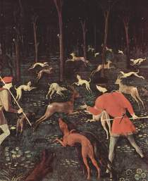 Jagd bei Nacht by Paolo Uccello