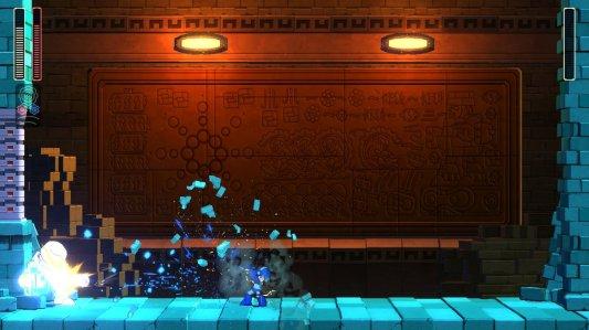 Mega Man 11 Block Man Defeated