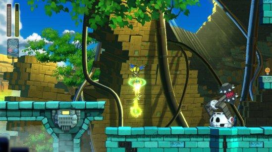 Mega Man 11 Scramble Thunder Attack