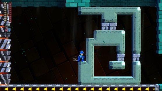Mega Man 11 Spike Column Challenges
