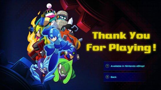 Mega Man 11 Thanks for Playing