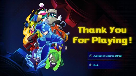 Mega Man 11 Thanks for Playing