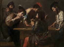 Soldiers Playing Cards and Dice by Valentin de Boulogne