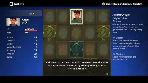 Earthlock Talent Board