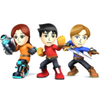Smash Bros Mii Fighter