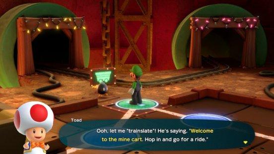 Super Mario Party Mine Cart
