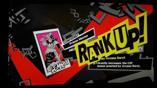 Persona 5 Social Link Rank Up