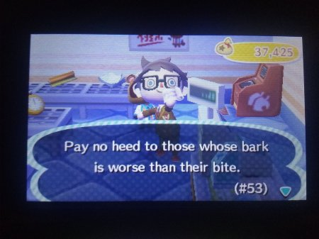 Animal Crossing Bark vs Bite