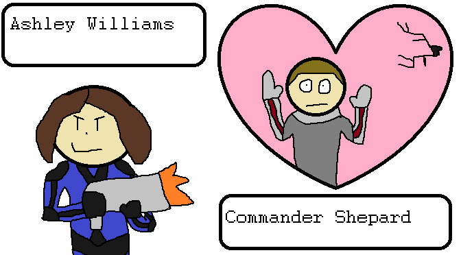 Ashley Williams and Commander Shepard