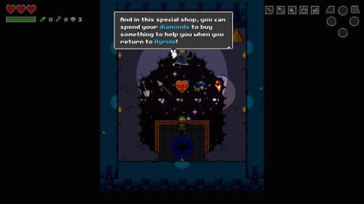 Cadence of Hyrule Death Shop