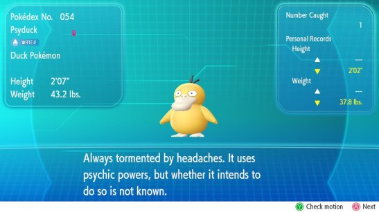 Fuzzblock Psyduck Pokedex