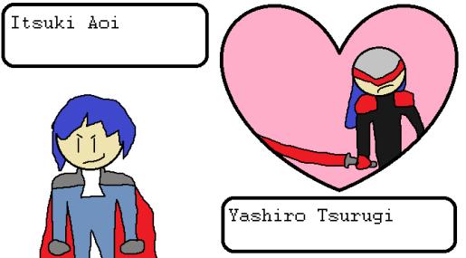 Itsuki Aoi and Yashiro Tsurugi