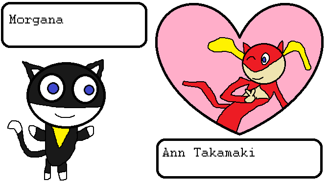 Morgana and Ann Takamaki