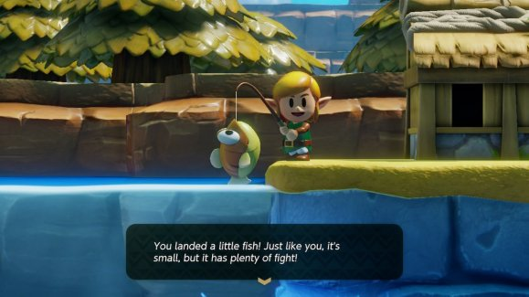 Links Awakening Small With Plenty of Fight