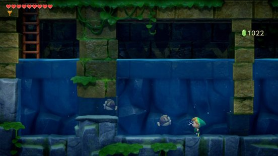 Links Awakening Swimming with the Fishes
