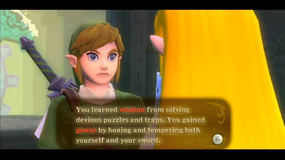 Skyward Sword Wisdom and Power