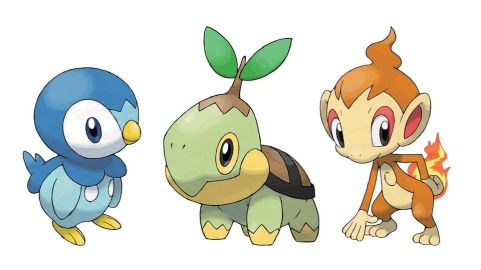 Pokemon Gen Four Starters
