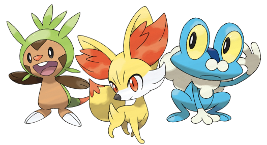 Pokemon Gen Six Starters