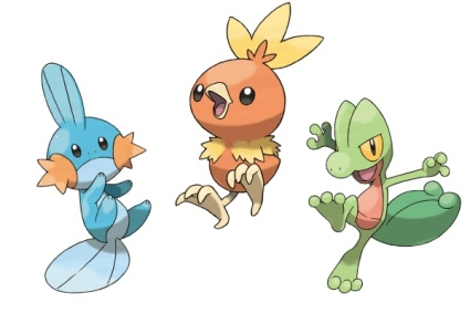 Pokemon Gen Three Starters