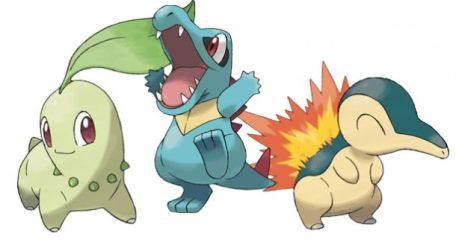 Pokemon Gen Two Starters