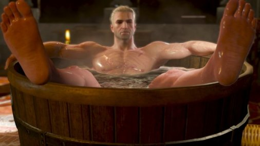 Witcher Bathtub Geralt