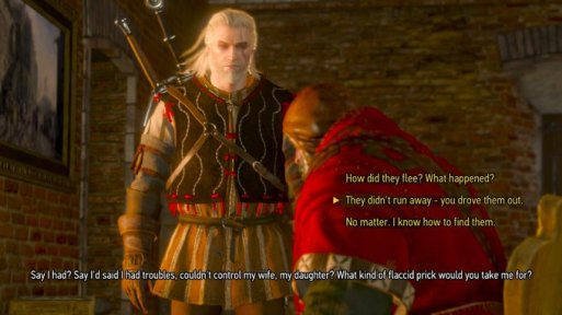 Witcher You Drove Them Out